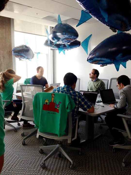 Those ominous-looking RC sharks do not seem to deter our intrepid hackers!